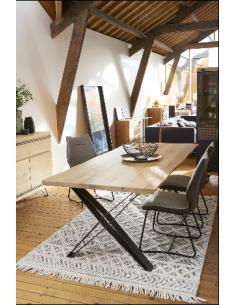 TABLE FUSAIN METAL/BOIS